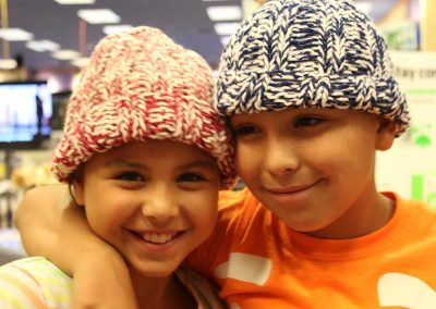 Children with hats
